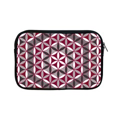 Flower Of Life Pattern Red Grey 01 Apple Ipad Mini Zipper Cases by Cveti