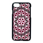 Flower Of Life Pattern Red Grey 01 Apple iPhone 7 Seamless Case (Black) Front