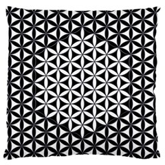 Flower Of Life Pattern Black White 1 Large Cushion Case (two Sides) by Cveti