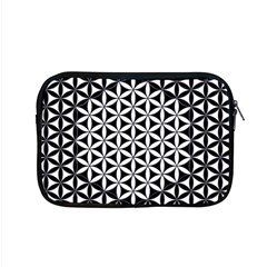 Flower Of Life Pattern Black White 1 Apple Macbook Pro 15  Zipper Case by Cveti