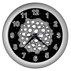 Strange Planet Wall Clocks (silver)  by jumpercat