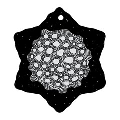 Strange Planet Snowflake Ornament (two Sides) by jumpercat