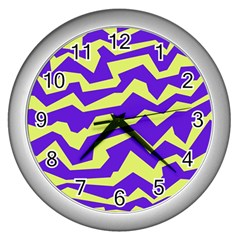 Polynoise Vibrant Royal Wall Clocks (silver)  by jumpercat