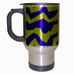 Polynoise Vibrant Royal Travel Mug (silver Gray) by jumpercat