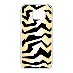 Polynoise Tiger Samsung Galaxy S7 Edge White Seamless Case
