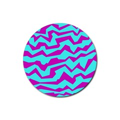 Polynoise Shock New Wave Rubber Round Coaster (4 Pack)  by jumpercat