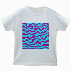 Polynoise Shock New Wave Kids White T Shirts