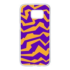 Polynoise Pumpkin Samsung Galaxy S7 Edge White Seamless Case by jumpercat