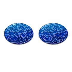 Polynoise Deep Layer Cufflinks (oval)