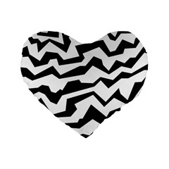 Polynoise Bw Standard 16  Premium Heart Shape Cushions by jumpercat
