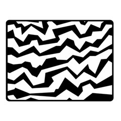 Polynoise Bw Double Sided Fleece Blanket (small)  by jumpercat