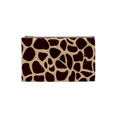 Animal Print Girraf Patterns Cosmetic Bag (small)