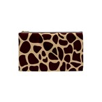 Animal Print Girraf Patterns Cosmetic Bag (Small)  Front