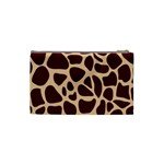 Animal Print Girraf Patterns Cosmetic Bag (Small)  Back