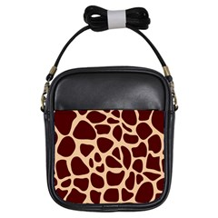 Animal Print Girraf Patterns Girls Sling Bags