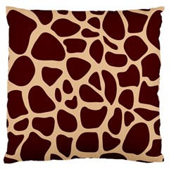 Animal Print Girraf Patterns Large Cushion Case (two Sides)