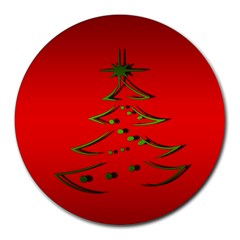 Christmas Round Mousepads by BangZart
