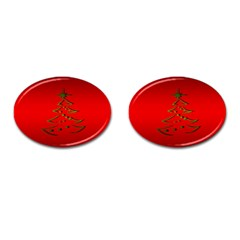 Christmas Cufflinks (oval) by BangZart