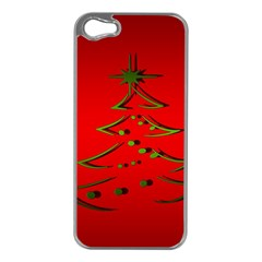 Christmas Apple Iphone 5 Case (silver)