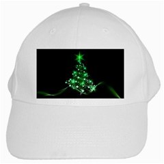 Christmas Tree Background White Cap by BangZart