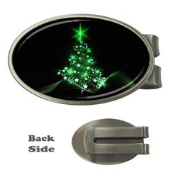 Christmas Tree Background Money Clips (oval)  by BangZart