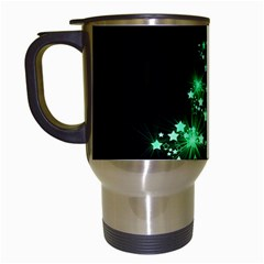 Christmas Tree Background Travel Mugs (white)