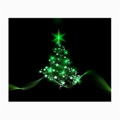 Christmas Tree Background Small Glasses Cloth