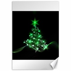 Christmas Tree Background Canvas 12  X 18   by BangZart