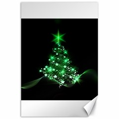 Christmas Tree Background Canvas 24  X 36  by BangZart