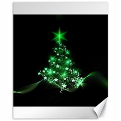 Christmas Tree Background Canvas 11  X 14   by BangZart