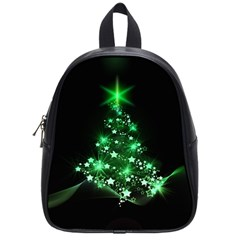 Christmas Tree Background School Bag (small)