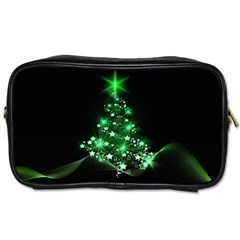 Christmas Tree Background Toiletries Bags by BangZart