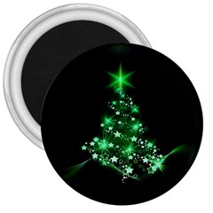 Christmas Tree Background 3  Magnets by BangZart