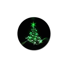Christmas Tree Background Golf Ball Marker (4 Pack)