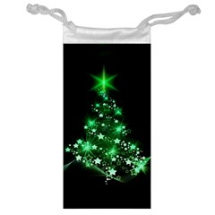 Christmas Tree Background Jewelry Bag