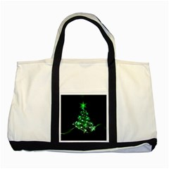 Christmas Tree Background Two Tone Tote Bag