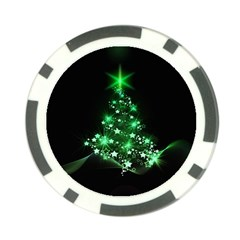 Christmas Tree Background Poker Chip Card Guard (10 Pack) by BangZart