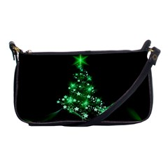 Christmas Tree Background Shoulder Clutch Bags by BangZart