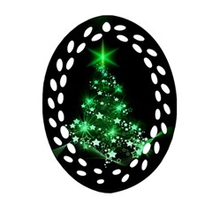 Christmas Tree Background Ornament (oval Filigree)