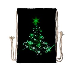 Christmas Tree Background Drawstring Bag (small) by BangZart