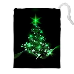 Christmas Tree Background Drawstring Pouches (xxl)