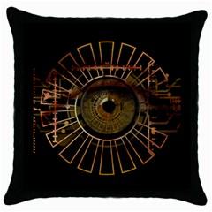 Eye Technology Throw Pillow Case (black)