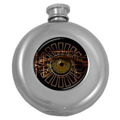 Eye Technology Round Hip Flask (5 Oz) by BangZart