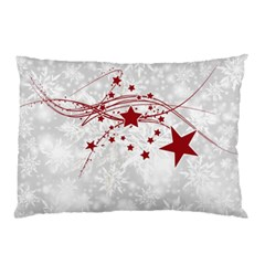 Christmas Star Snowflake Pillow Case (two Sides)