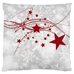 Christmas Star Snowflake Large Cushion Case (one Side) by BangZart