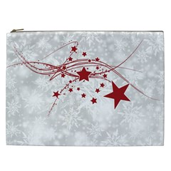 Christmas Star Snowflake Cosmetic Bag (xxl)  by BangZart
