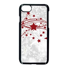 Christmas Star Snowflake Apple Iphone 8 Seamless Case (black)
