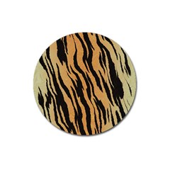 Animal Tiger Seamless Pattern Texture Background Magnet 3  (round) by BangZart
