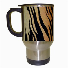 Animal Tiger Seamless Pattern Texture Background Travel Mugs (white) by BangZart