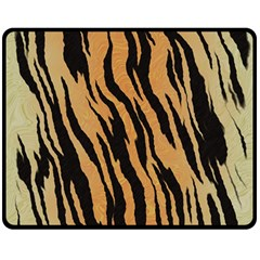 Animal Tiger Seamless Pattern Texture Background Double Sided Fleece Blanket (medium)  by BangZart